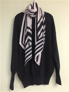 (Pre-Order) Black and White Scarf (will ship within 1~2 weeks)