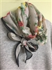 (Pre-Order) Black Line Flower Scarf (will ship within 1~2 weeks)