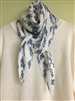 (Pre-Order) Ivory Flower Pleated Scarf (will ship within 1~2 weeks)