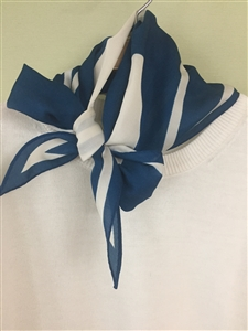 (Pre-Order) Blue Blocked Scarf (will ship within 1~2 weeks)