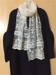 (Pre-Order) Luxury Lace Long Scarf (will ship within 1~2 weeks)