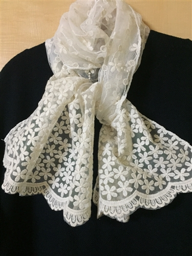 (Pre-Order) Luxury Lace Scarf (will ship within 1~2 weeks)