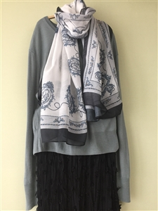 (Pre-Order) Ivory Royal Scarf (will ship within 1~2 weeks)