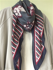 (Pre-Order) Red Stripe Scarf (will ship within 1~2 weeks)