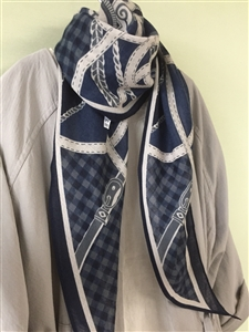 (Pre-Order) Navy Belt Scarf (will ship within 1~2 weeks)