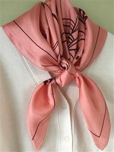 (Pre-Order) Pink Nature Silk 100 Scarf (will ship within 1~2 weeks)