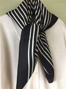 (Pre-Order) Line Silk 100 Scarf (will ship within 1~2 weeks)