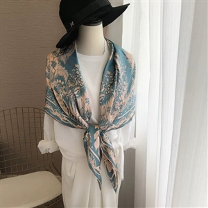 Silk 100 Print Scarf (will ship within 1~2 weeks)