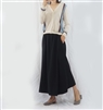 (Best; 2nd Reorder) Black Easy Long Skirt
