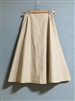 Beige Washing Cotton Band Skirt