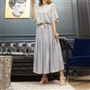 (Best; 5th Reorder) SkyBlue Soft Rayon Long Skirt