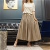 (Best; 5th Reorder) Beige Soft Rayon Long Skirt