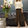 (Best; 2nd Reorder) Khaki Side Pleated Skirt