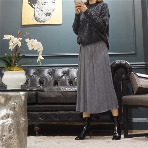 (Best; 2nd Reorder) Pearl Knit Skirt