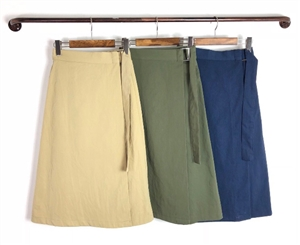 (Pre-Order) Wrap Skirt (Beige/Khaki/Navy) (will ship within 1~2 weeks)
