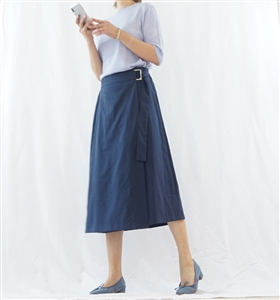 (Best;  2nd Reorder) Navy Wrap Skirt