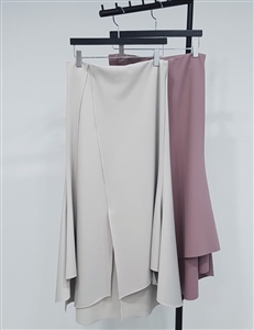 (Pre-Order) Stylish Skirt (White/Gray/Pink/Black) (will ship within 1~2 weeks)