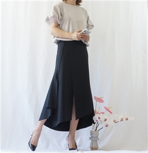 (Best; Back-Order; 2nd Reorder) Black Stylish Skirt (will ship within 1~2 weeks)