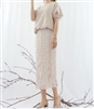 (Best; 4th Reorder) Beige Petal Chiffon Skirt