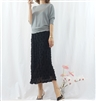 (Best; 4th Reorder) Black Petal Chiffon Skirt