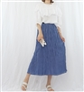 (Best; 2nd Reorder) Blue Pleated Skirt