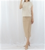 (Best; 3rd Reorder) Beige Spring Summer Knit Pocket Skirt