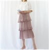(Best; 2nd Reorder) Pink Print Cancan Skirt