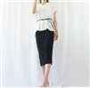 (Best; 3rd Reorder) Black Spring Summer Knit Pocket Skirt