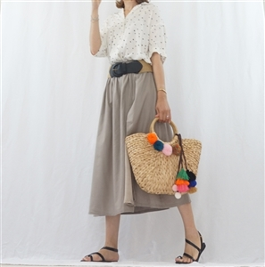 (Best; 2nd Reorder) Beige Two Color Skirt