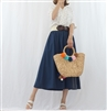 (Best; 2nd Reorder) Navy Two Color Skirt