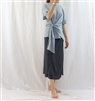 (Best; 2nd Reorder) Charcoal Double Skirt