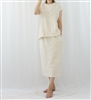 (Best; 2nd Reorder) Cotton+Linen Tassel Top & Skirt Set