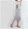 (2nd Reorder; Our Choice) Gray Ruffle Cotton Skirt