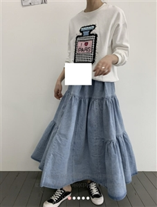 (~01/29) Denim Long Skirt (will ship within 1~2 weeks)