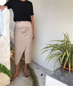 Sophieh Avila Organic Cotton 100% Skirt (Black/Beige/Ivory) (55/66) (will ship within 1~2 weeks)