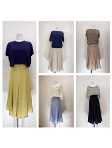(Special Price) Yellow Line Silket Skirt