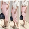Joseph Slit Skirt (SorbetPink/CoralOrange/Green/Black) (will ship within 1~2 weeks)