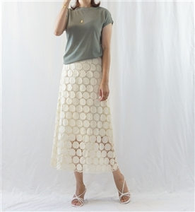 Cream Isabel Lace Skirt (S/M) (will ship within 1~2 weeks)