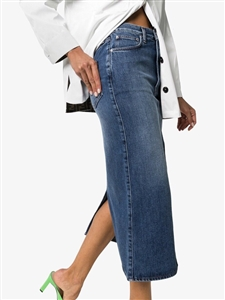 Toteme Style Back Slit H Line Denim Skirt (55/66) (will ship within 1~2 weeks)