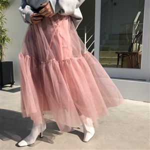 Cha Skirt (Black/Gray/Pink) (will ship within 1~2 weeks)