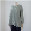 (2nd Reorder) LightKhaki Helmut Divided Lines Top