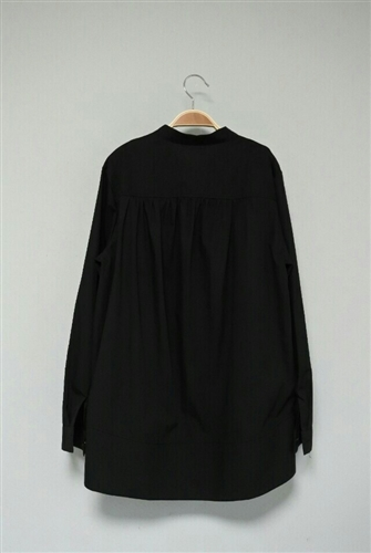 Black Back Shirring Neat Shirt