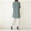 Luxury Green Side Vent Tencel Long T