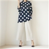 Navy Big Dot T