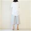 White Pintuck Sleeves T