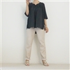 (2nd Reorder) Charcoal Pintuck Stich Blouse
