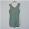 (2nd Reorder) Green Clean Thin Soft Cotton Sleeveless Top