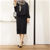 Black Luxury Knit Set (Top + Skirt)