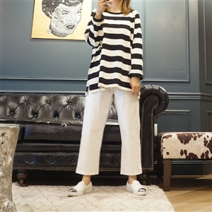 (Best; 3rd Reorder) Black Stripe Top