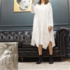 (Best; 3rd Reorder) White Long Boxy Shirt Dress